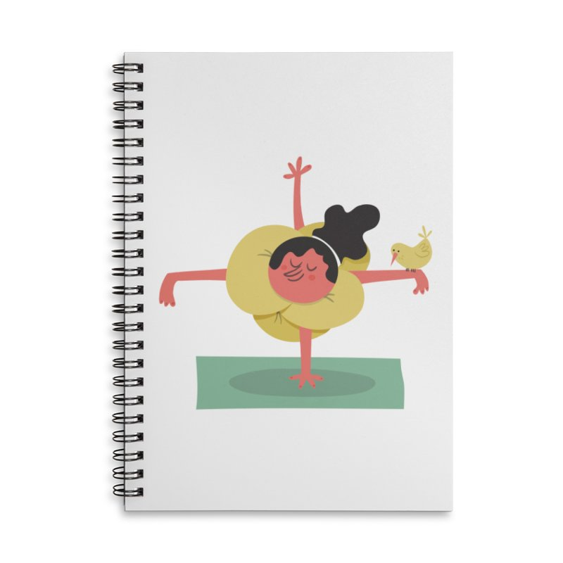 I Love Yoga Accessories Lined Spiral Notebook by amirabouroumie's Artist Shop