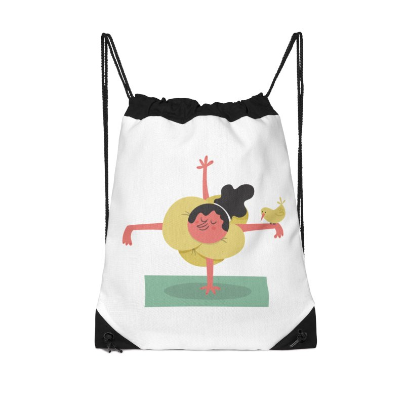 I Love Yoga Accessories Drawstring Bag Bag by amirabouroumie's Artist Shop