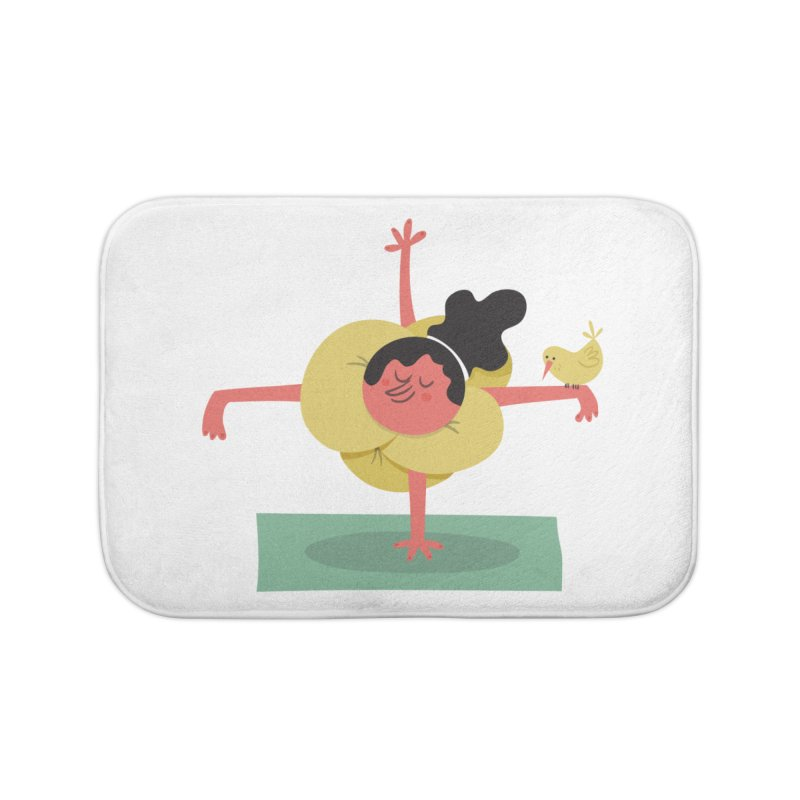 I Love Yoga Home Bath Mat by amirabouroumie's Artist Shop