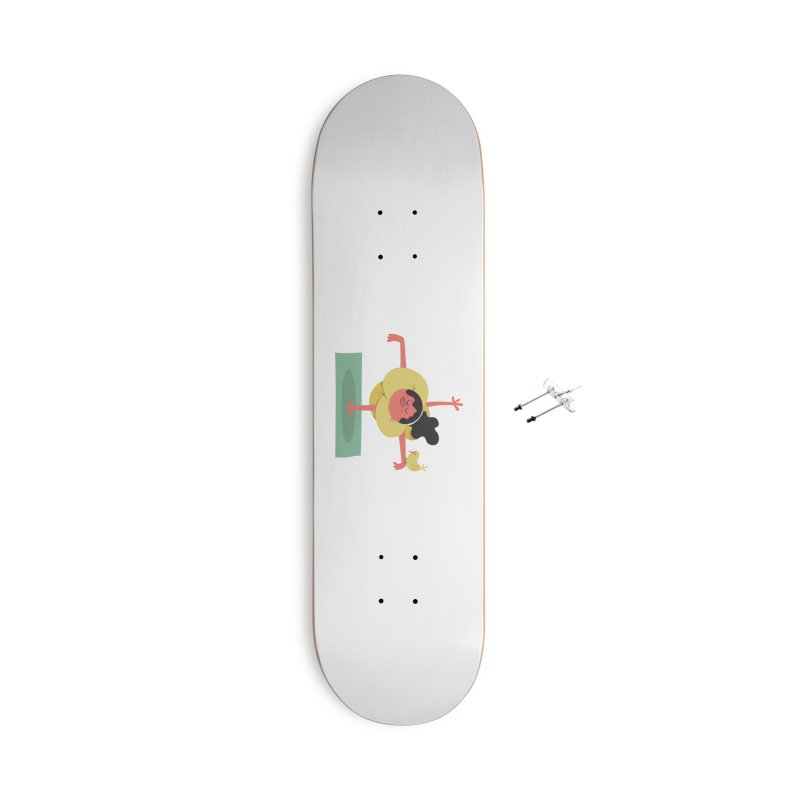 I Love Yoga Accessories With Hanging Hardware Skateboard by amirabouroumie's Artist Shop