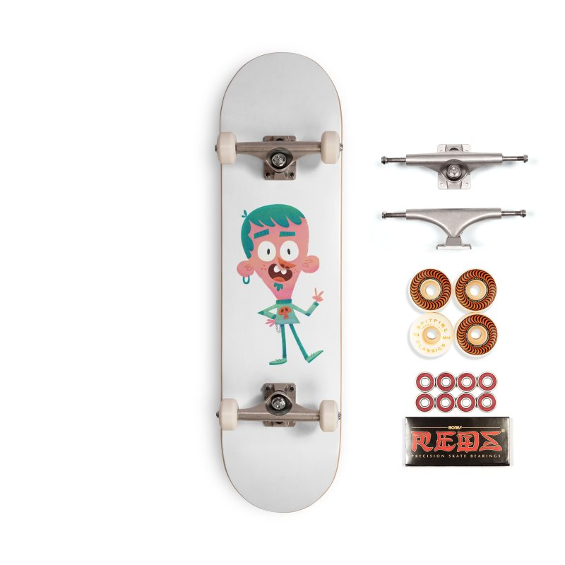 Rock On - Cartoon Rocker Accessories Skateboard by amirabouroumie's Artist Shop