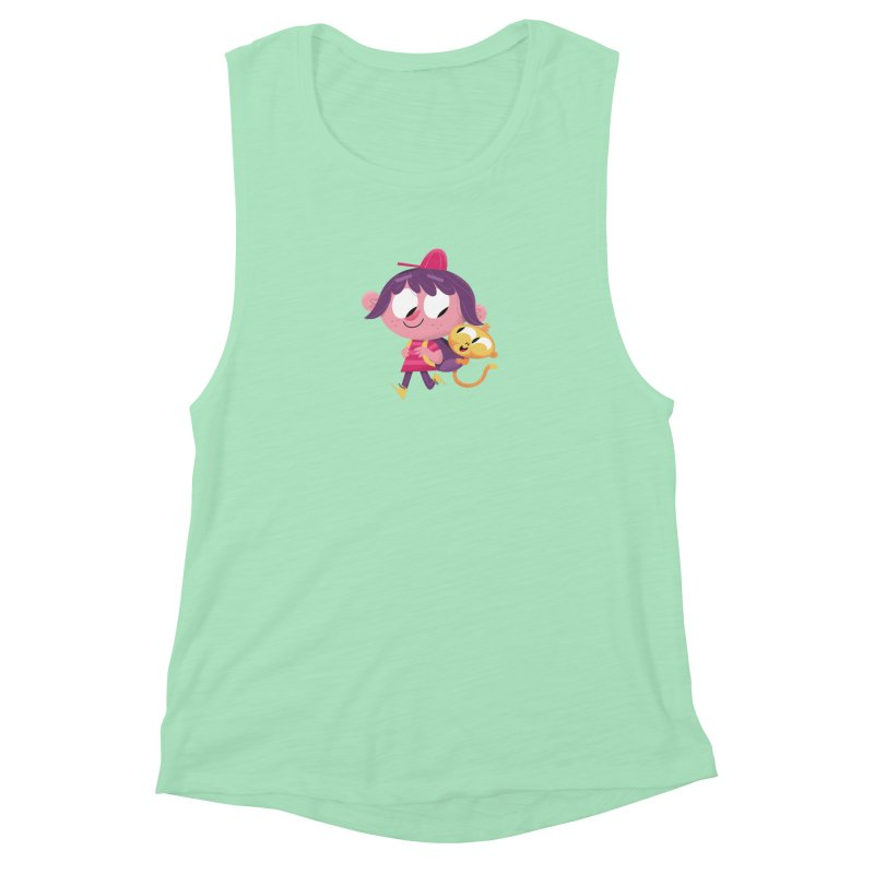 Best Friends Forever! Women's Muscle Tank by amirabouroumie's Artist Shop