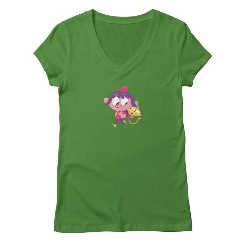 Best Friends Forever! Women's Regular V-Neck by amirabouroumie's Artist Shop