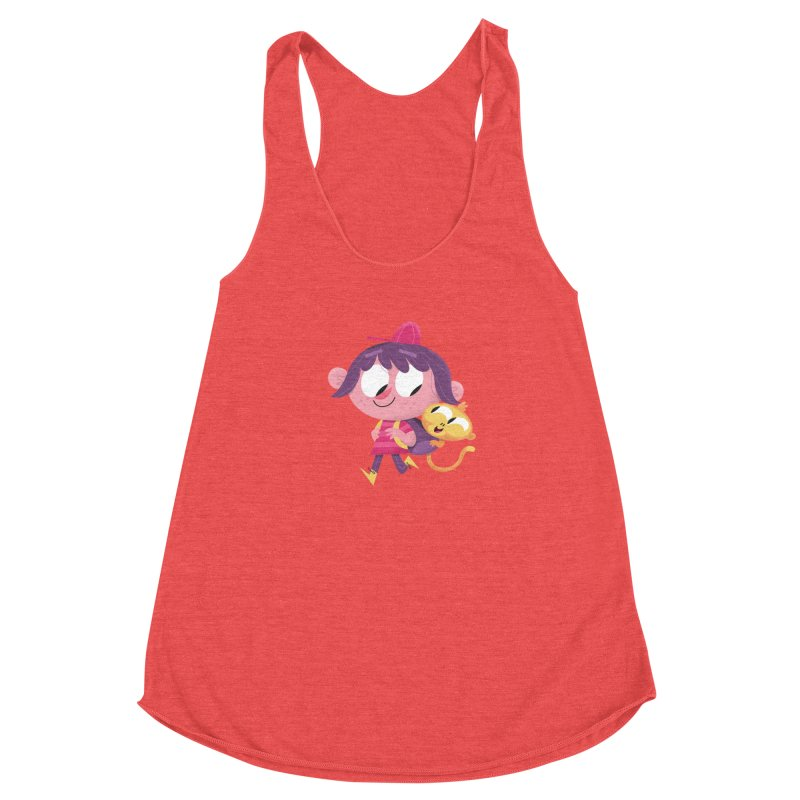 Best Friends Forever! Women's Racerback Triblend Tank by amirabouroumie's Artist Shop