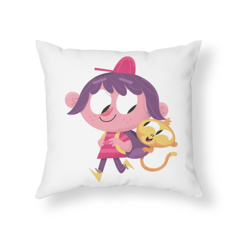 Best Friends Forever! Home Throw Pillow by amirabouroumie's Artist Shop