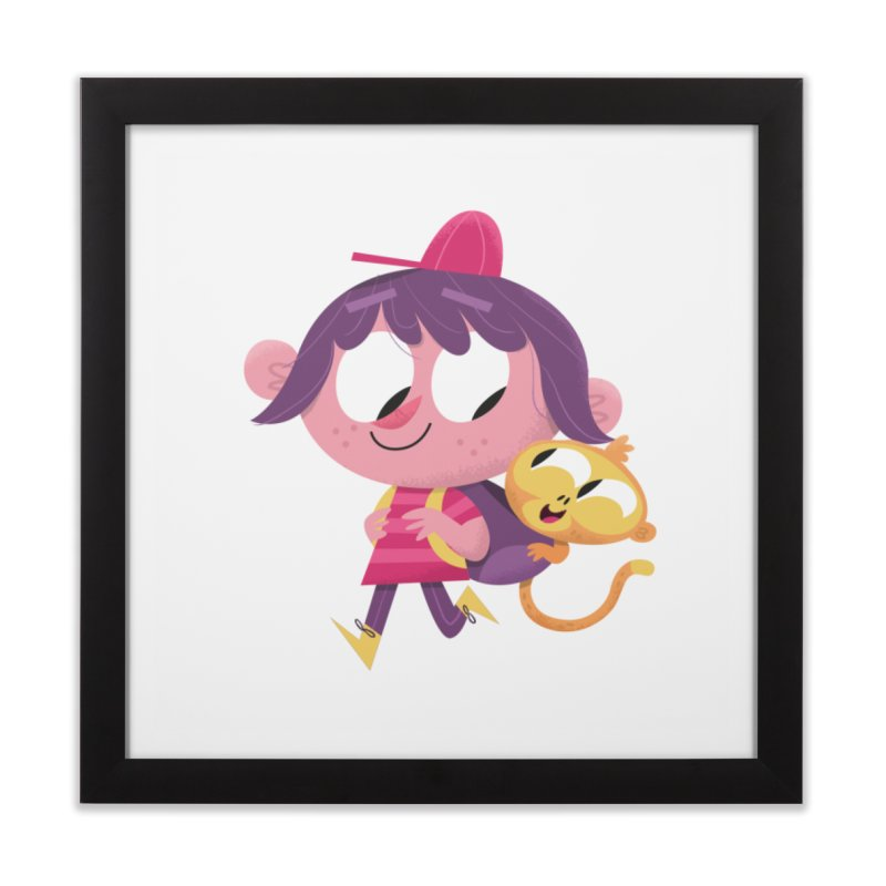 Best Friends Forever! Home Framed Fine Art Print by amirabouroumie's Artist Shop