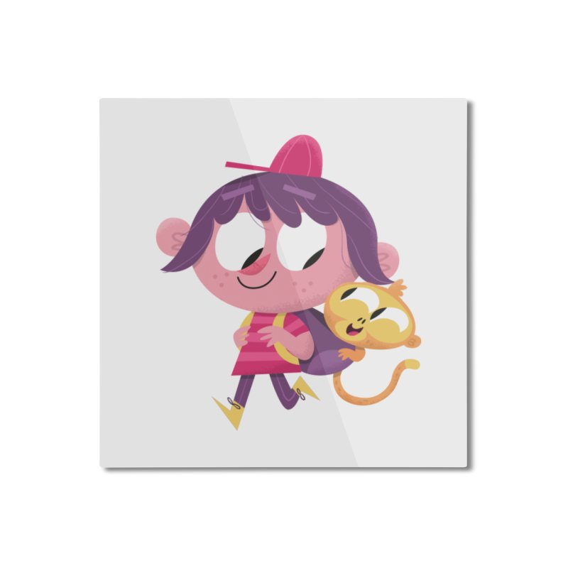 Best Friends Forever! Home Mounted Aluminum Print by amirabouroumie's Artist Shop