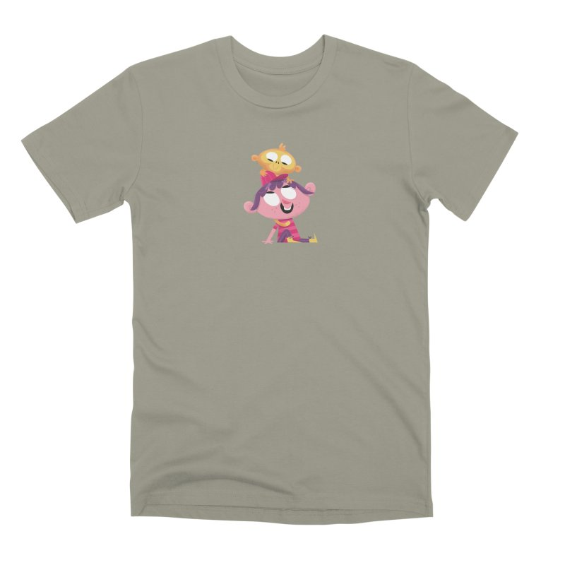 Best Friends Forever - Girl with her pet monkey Men's T-Shirt by amirabouroumie's Artist Shop
