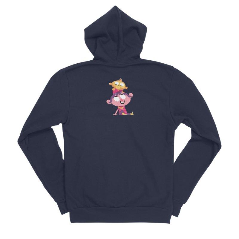 Best Friends Forever! Women's Sponge Fleece Zip-Up Hoody by amirabouroumie's Artist Shop