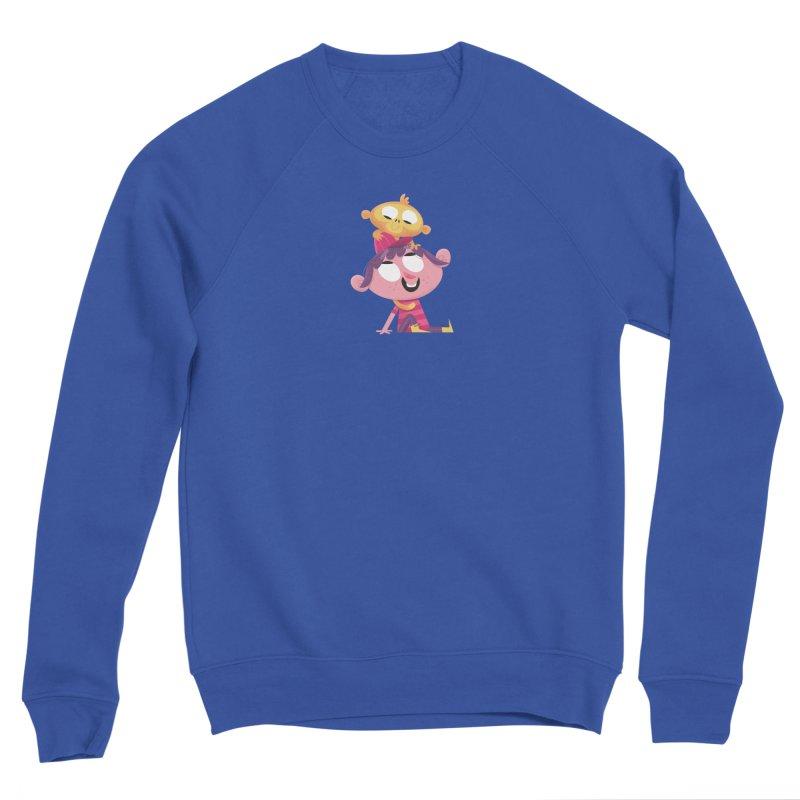 Best Friends Forever - Girl with her pet monkey Men's Sweatshirt by amirabouroumie's Artist Shop