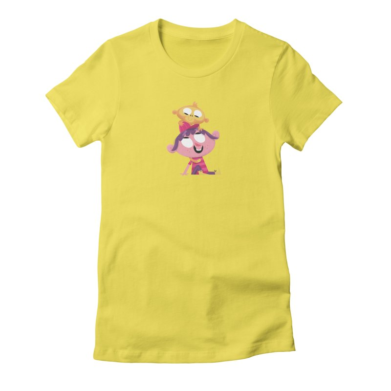 Best Friends Forever! Women's Fitted T-Shirt by amirabouroumie's Artist Shop