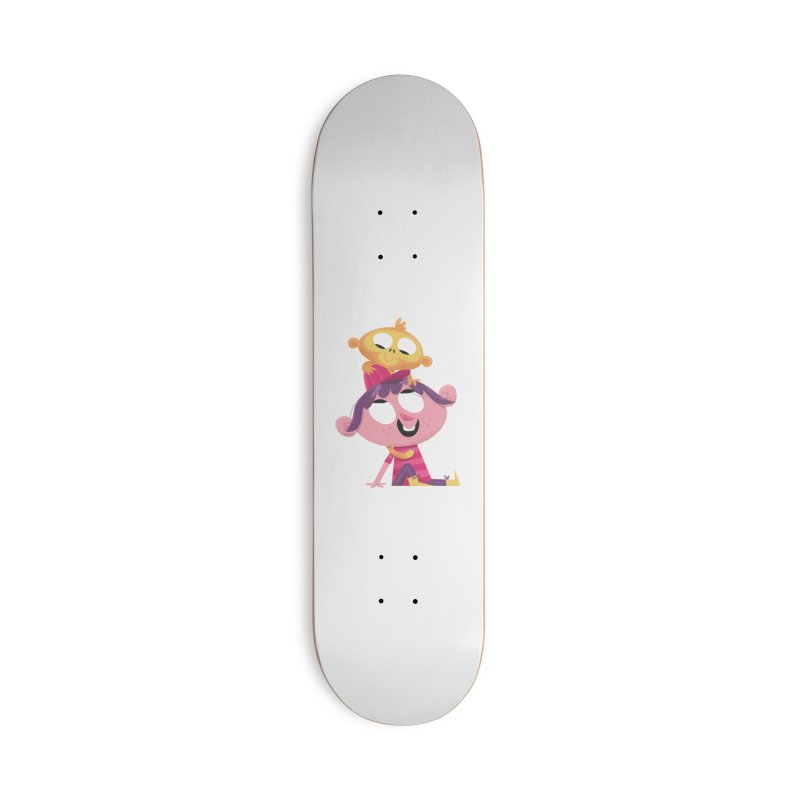 Best Friends Forever - Girl with her pet monkey Accessories Skateboard by amirabouroumie's Artist Shop