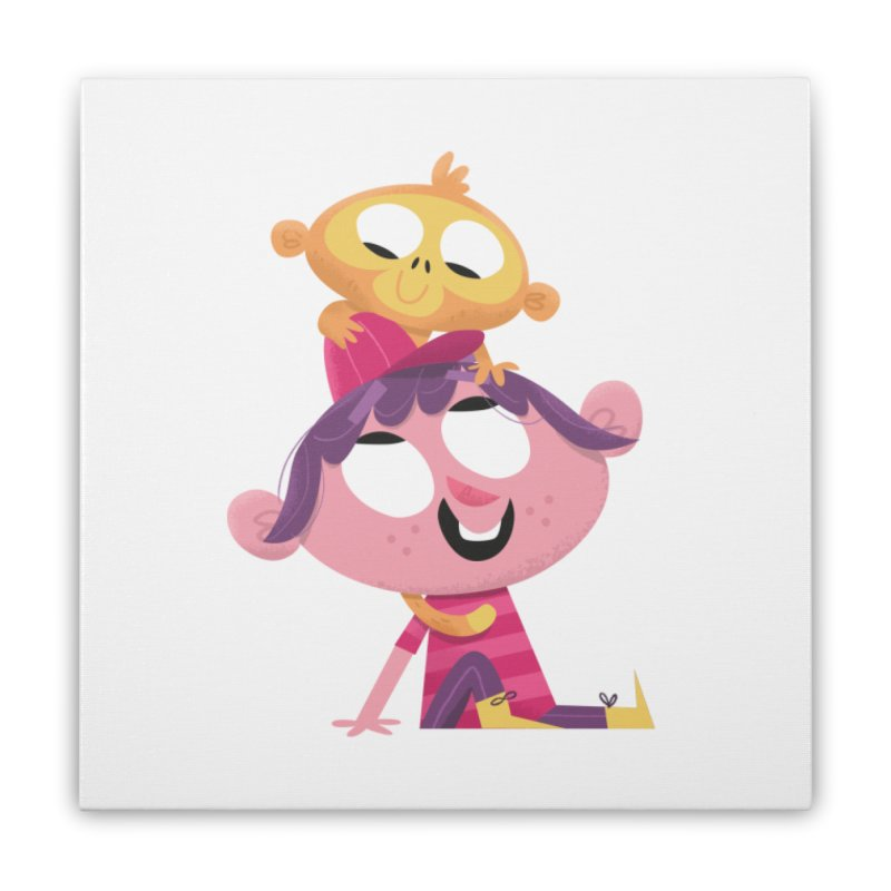 Best Friends Forever! Home Stretched Canvas by amirabouroumie's Artist Shop