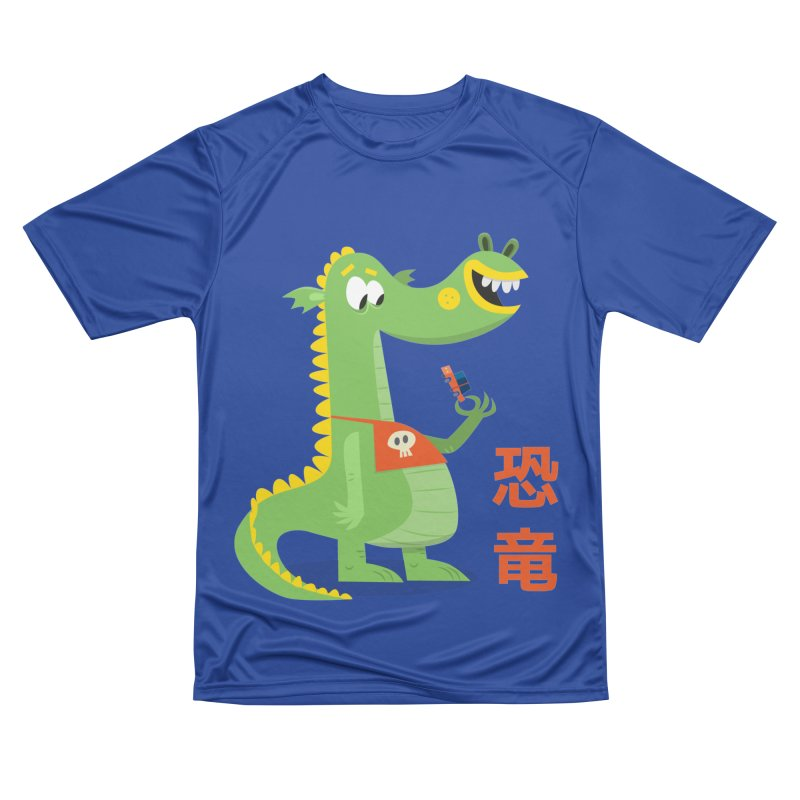 Cute Vintage Flat Cartoon Dinosaur Japanese Women's Performance Unisex T-Shirt by amirabouroumie's Artist Shop