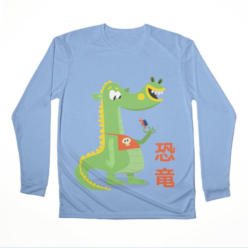 Cute Vintage Flat Cartoon Dinosaur Japanese Women's Longsleeve T-Shirt by amirabouroumie's Artist Shop