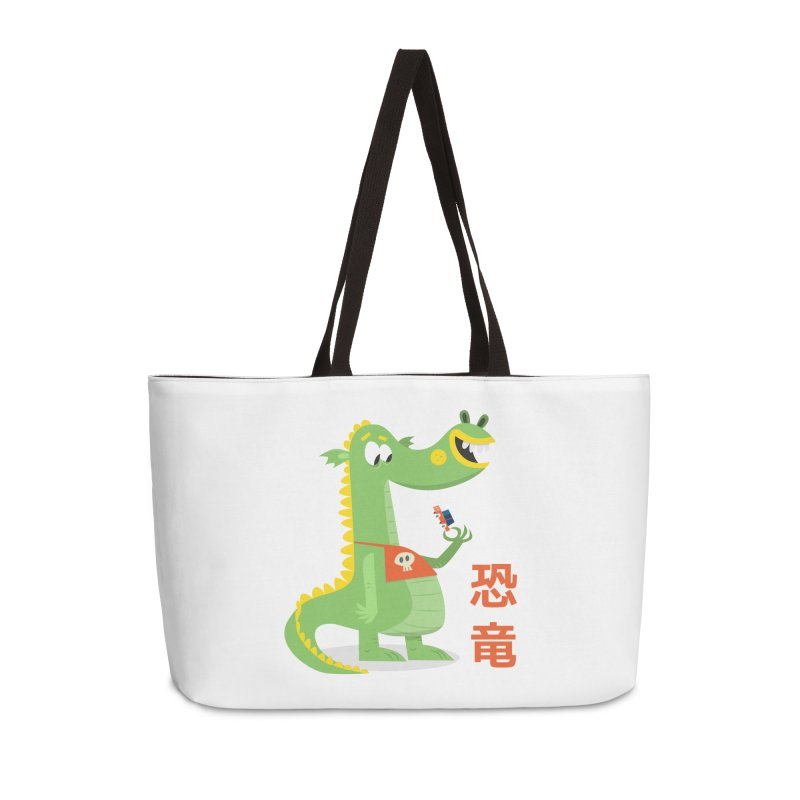 Cute Vintage Flat Cartoon Dinosaur Japanese Accessories Weekender Bag Bag by amirabouroumie's Artist Shop