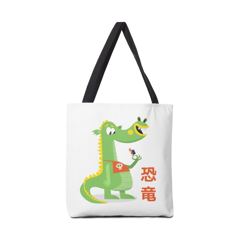 Cute Vintage Flat Cartoon Dinosaur Japanese Accessories Tote Bag Bag by amirabouroumie's Artist Shop