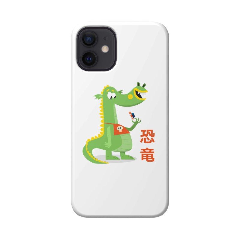 Cute Vintage Flat Cartoon Dinosaur Japanese Accessories Phone Case by amirabouroumie's Artist Shop