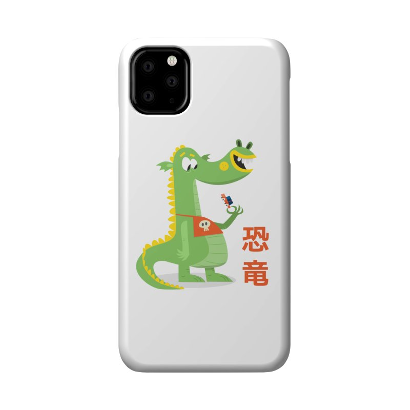 Cute Vintage Flat Cartoon Dinosaur Japanese Accessories Phone Case by amirabouroumie's Artist Shop