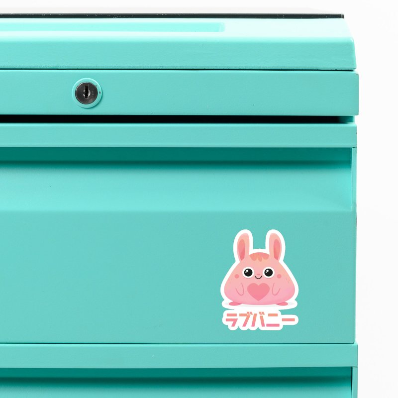 Kawaii Valentine Love Bunny Vintage Pink Japanese Kpop heart Accessories Magnet by amirabouroumie's Artist Shop