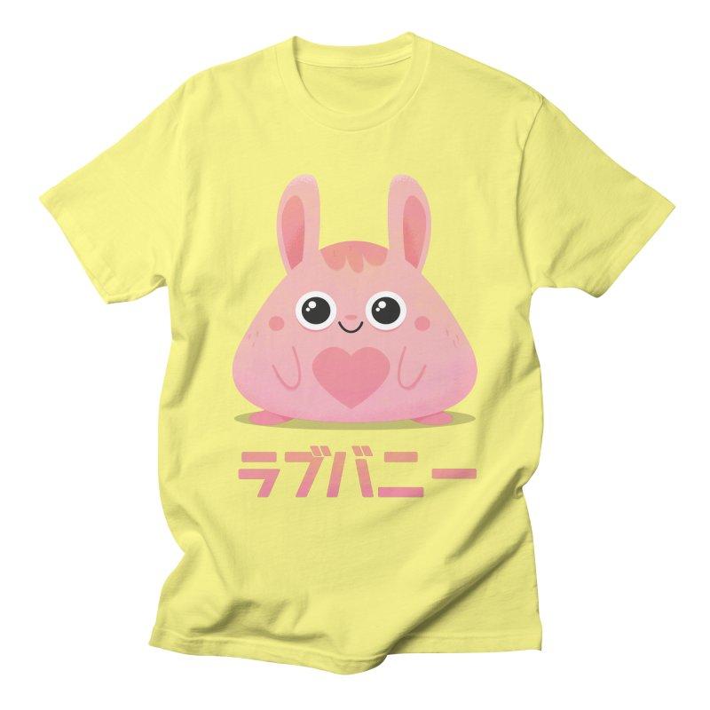 Kawaii Valentine Love Bunny Vintage Pink Japanese Kpop heart Men's T-Shirt by amirabouroumie's Artist Shop