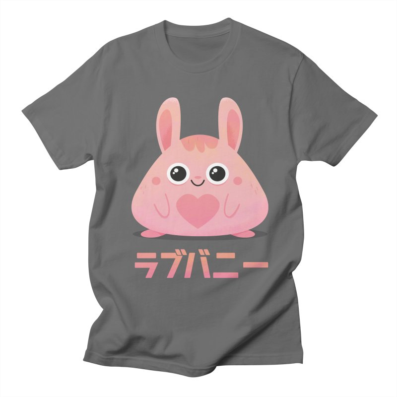 Kawaii Valentine Love Bunny Vintage Pink Japanese Kpop heart Men's T-Shirt by amirabouroumie's Artist Shop