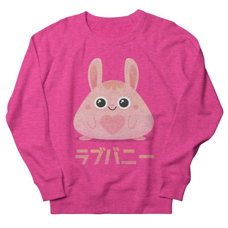 Kawaii Valentine Love Bunny Vintage Pink Japanese Kpop heart Women's French Terry Sweatshirt by amirabouroumie's Artist Shop