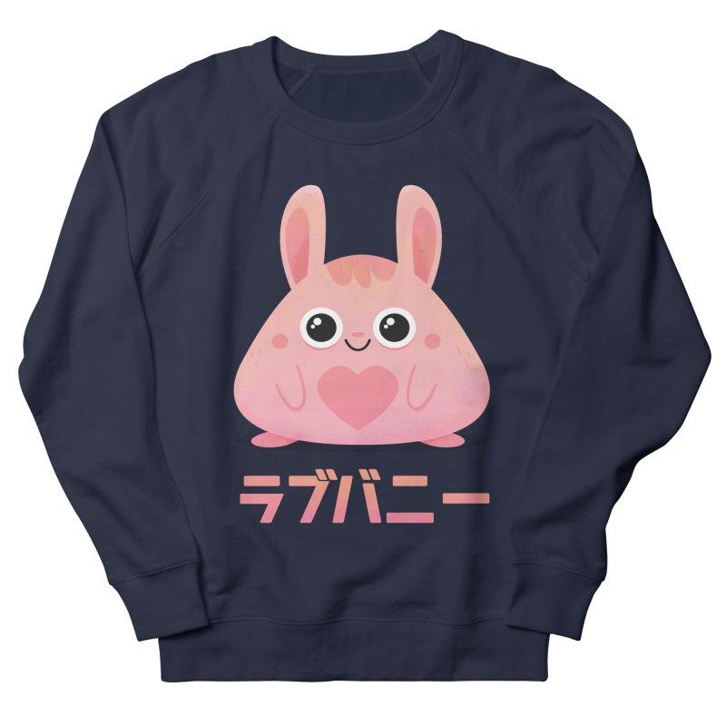 Kawaii Valentine Love Bunny Vintage Pink Japanese Kpop heart Women's Sweatshirt by amirabouroumie's Artist Shop