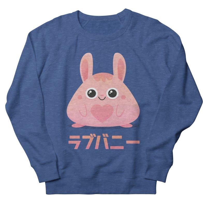 Kawaii Valentine Love Bunny Vintage Pink Japanese Kpop heart Men's Sweatshirt by amirabouroumie's Artist Shop