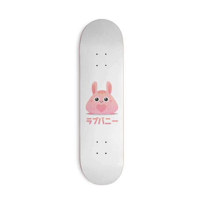 Kawaii Valentine Love Bunny Vintage Pink Japanese Kpop heart Accessories Deck Only Skateboard by amirabouroumie's Artist Shop