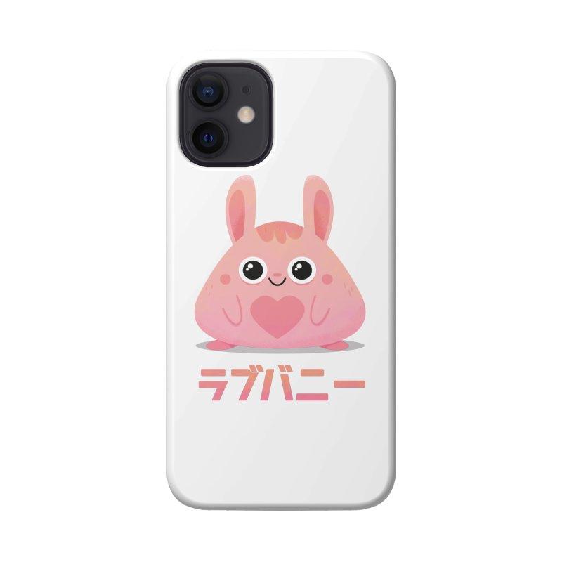 Kawaii Valentine Love Bunny Vintage Pink Japanese Kpop heart Accessories Phone Case by amirabouroumie's Artist Shop