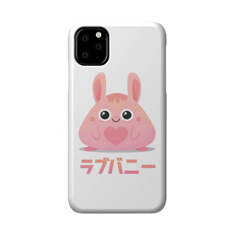 Kawaii Valentine Love Bunny Vintage Pink Japanese Kpop heart Accessories Phone Case by amirabouroumie's Artist Shop