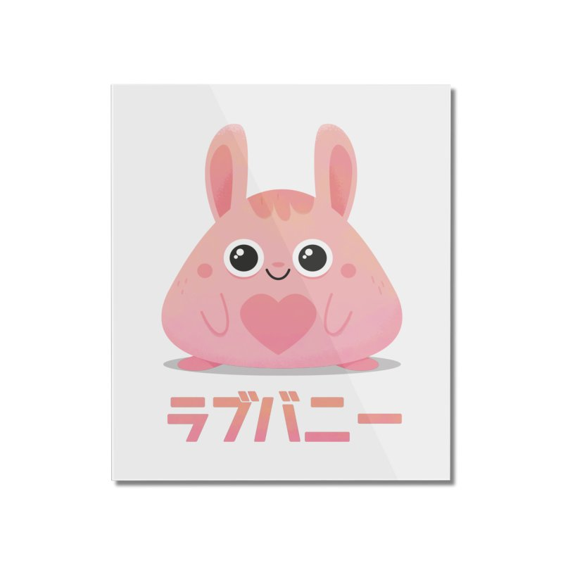Kawaii Valentine Love Bunny Vintage Pink Japanese Kpop heart Home Mounted Acrylic Print by amirabouroumie's Artist Shop
