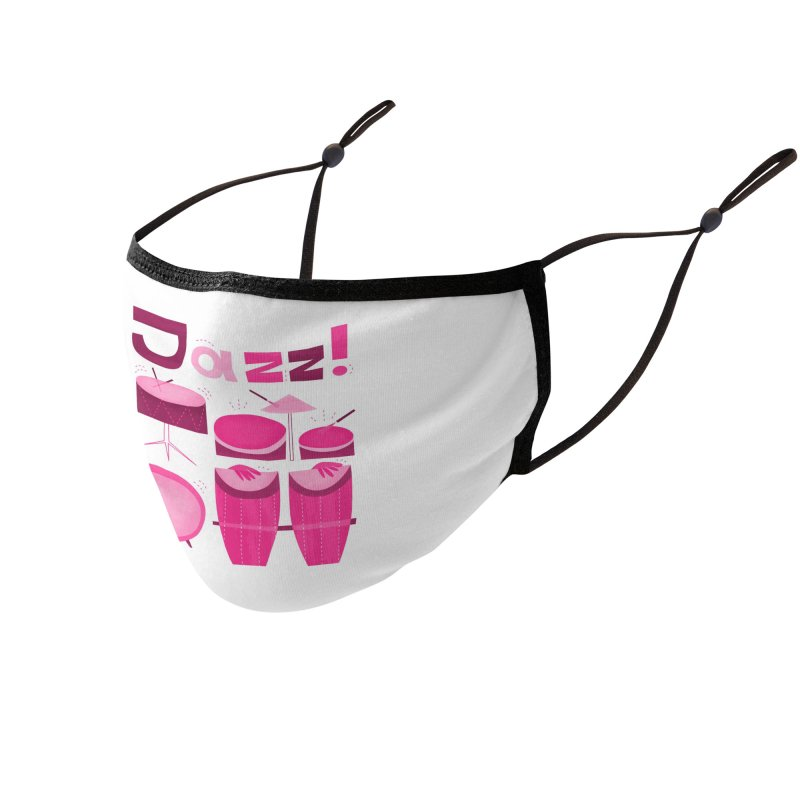 Retro Jazz Drums Percussion Magenta Accessories Face Mask by amirabouroumie's Artist Shop