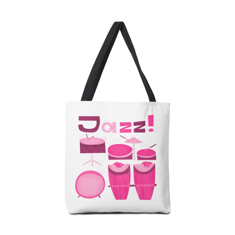 Retro Jazz Drums Percussion Pink Accessories Tote Bag Bag by amirabouroumie's Artist Shop