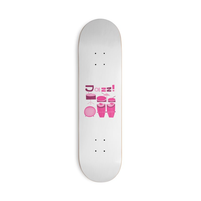 Retro Jazz Drums Percussion Pink Accessories Deck Only Skateboard by amirabouroumie's Artist Shop