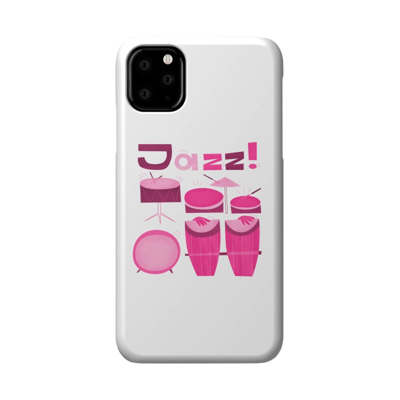 Retro Jazz Drums Percussion Pink Accessories Phone Case by amirabouroumie's Artist Shop