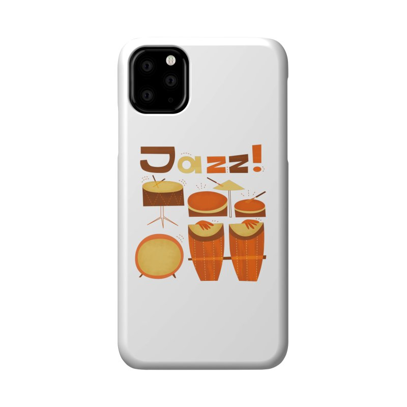 Retro Jazz Drums Percussion Brown Yellow Red Accessories Phone Case by amirabouroumie's Artist Shop