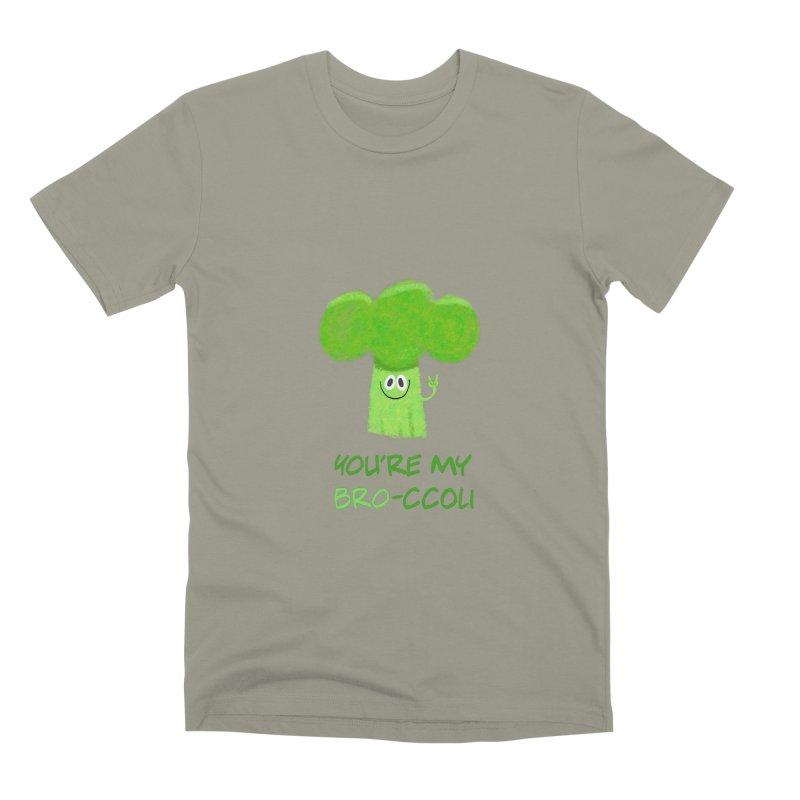You're my bro-ccoli - Vegan bros - vegan friends male funny Men's Premium T-Shirt by amirabouroumie's Artist Shop