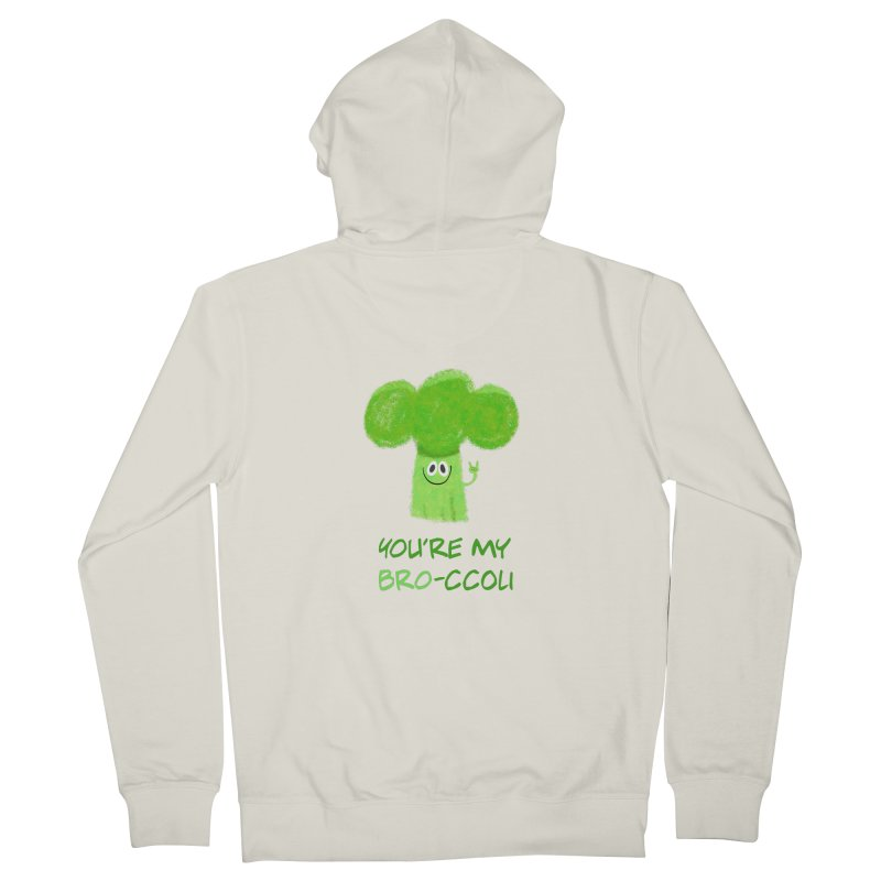 You're my bro-ccoli - Vegan bros - vegan friends male funny Men's French Terry Zip-Up Hoody by amirabouroumie's Artist Shop
