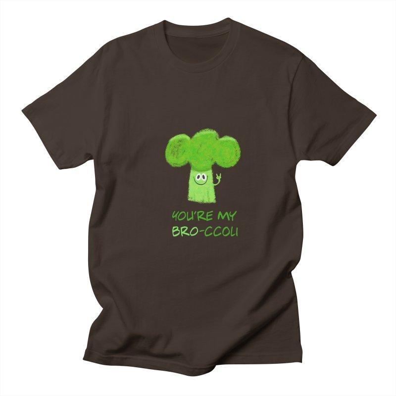You're my bro-ccoli - Vegan bros - vegan friends male funny Men's Regular T-Shirt by amirabouroumie's Artist Shop