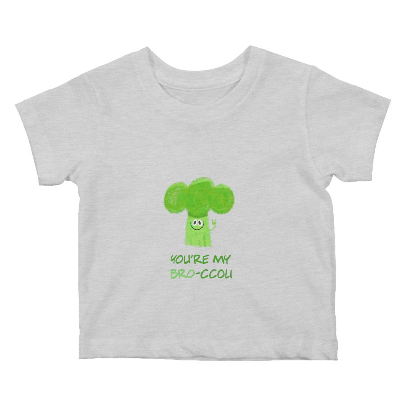 You're my bro-ccoli - Vegan bros - vegan friends male funny Kids Baby T-Shirt by amirabouroumie's Artist Shop