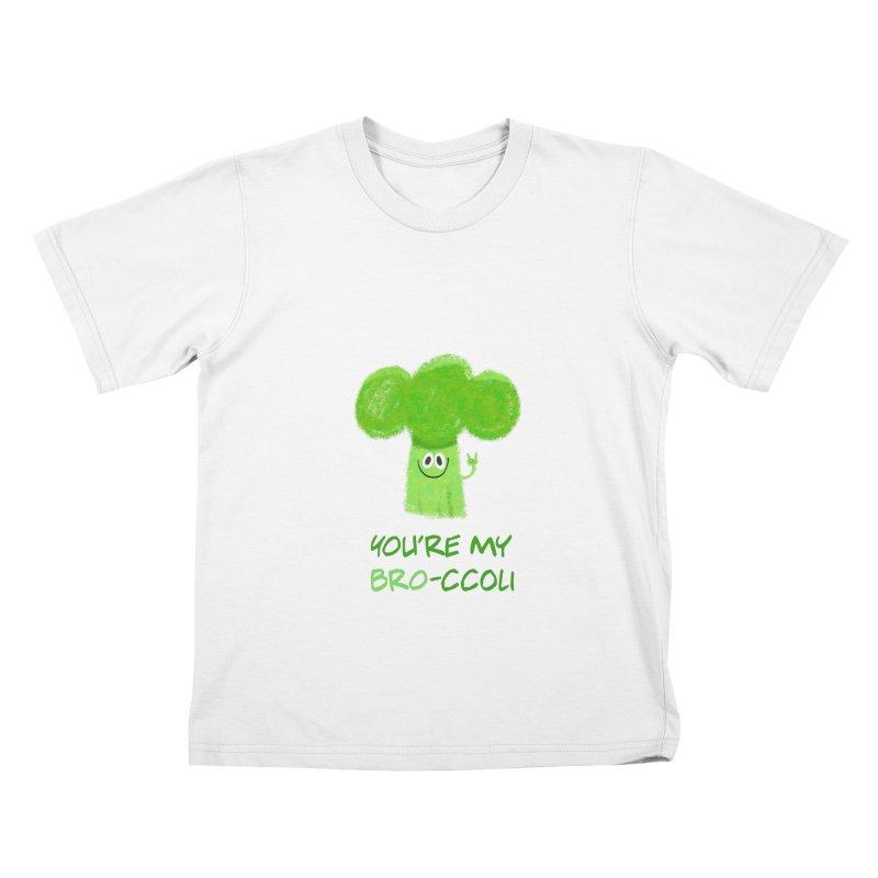 You're my bro-ccoli - Vegan bros - vegan friends male funny Kids T-Shirt by amirabouroumie's Artist Shop
