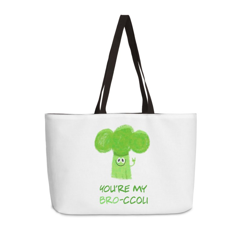 You're my bro-ccoli - Vegan bros - vegan friends male funny Accessories Weekender Bag Bag by amirabouroumie's Artist Shop