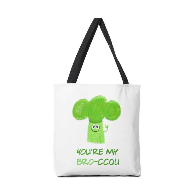 You're my bro-ccoli - Vegan bros - vegan friends male funny Accessories Tote Bag Bag by amirabouroumie's Artist Shop