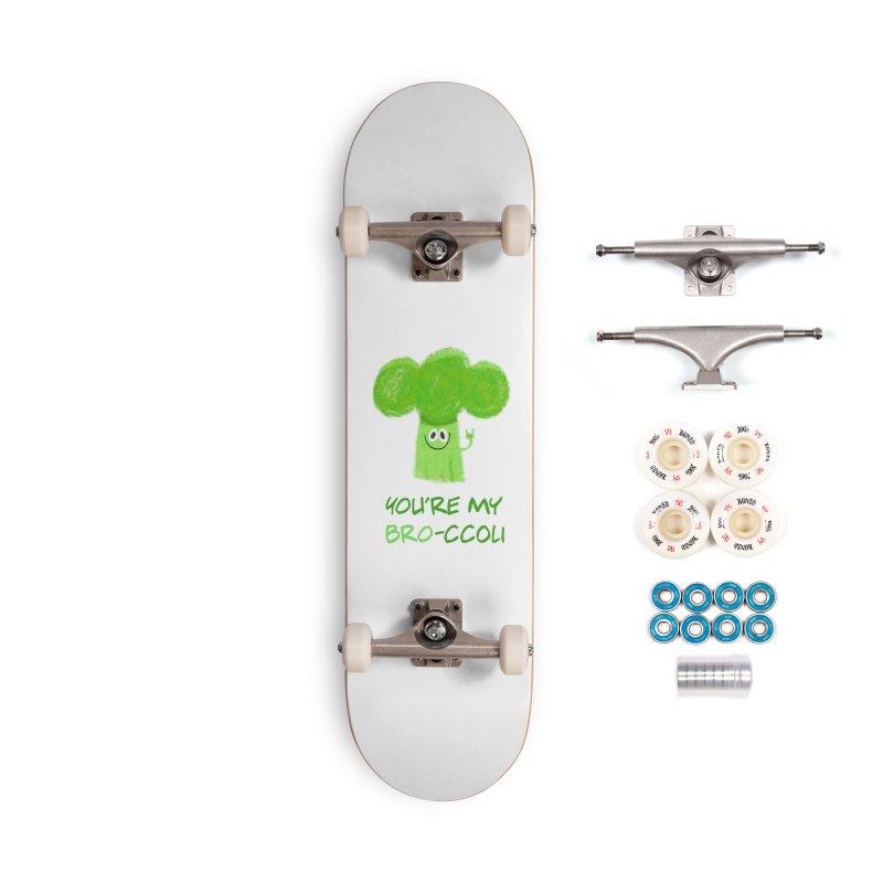 You're my bro-ccoli - Vegan bros - vegan friends male funny Accessories Complete - Premium Skateboard by amirabouroumie's Artist Shop
