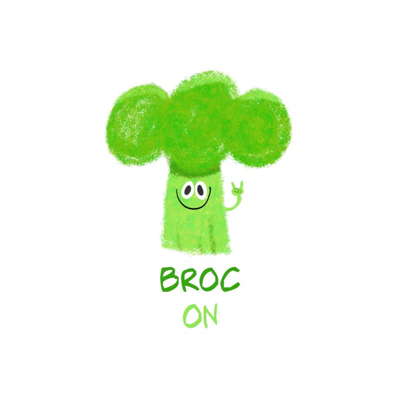 Rock on - Broc On - Brocculi - Vegan Hard Rock Rocker by amirabouroumie's Artist Shop