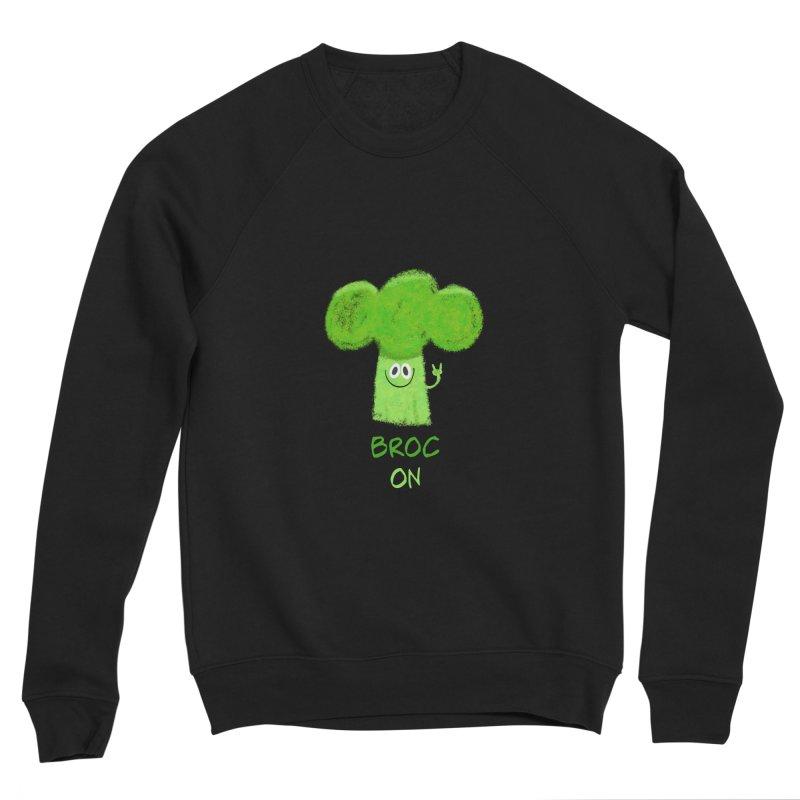 Rock on - Broc On - Brocculi - Vegan Hard Rock Rocker Men's Sponge Fleece Sweatshirt by amirabouroumie's Artist Shop