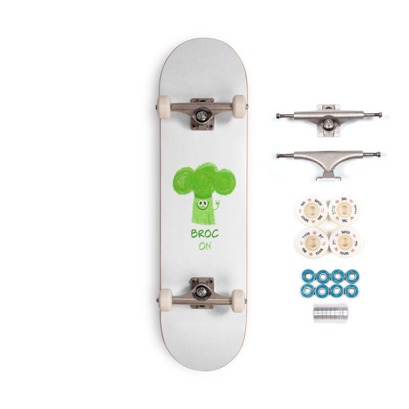 Rock on - Broc On - Brocculi - Vegan Hard Rock Rocker Accessories Complete - Premium Skateboard by amirabouroumie's Artist Shop