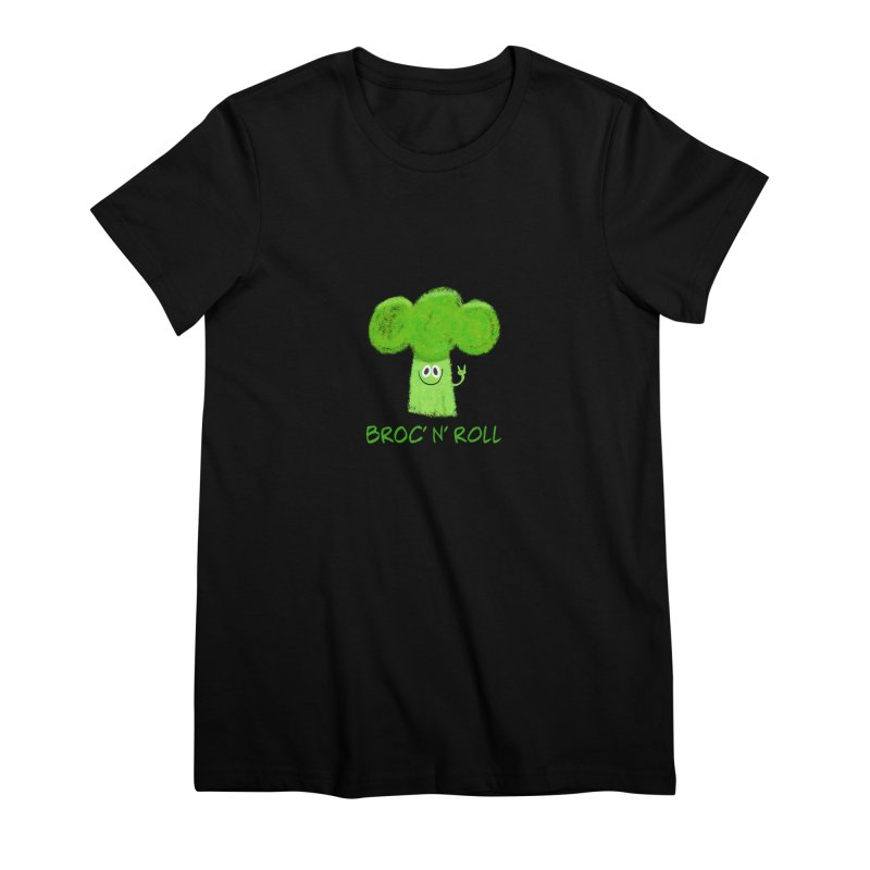 Broc' n' Roll Brocculi - Rock' n' Roll - Vegan Hard Rock Rocker Women's Premium T-Shirt by amirabouroumie's Artist Shop